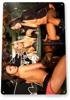 TIN SIGN Strip Poker Blue Metal Décor Wall Art Garage Shop Bar Cave A625
