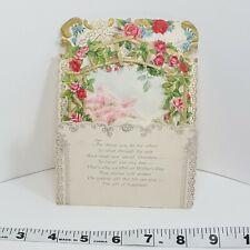 Ambassador Floral Mothers Day Greeting Vintage Card