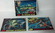 1994 Topps Mars Attacks 3lot Cards #1,2,4 Deluxe Reissue card NM/VF Foil