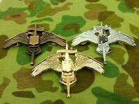 METAL THREE COLORS US MARINE RAIDER INSIGNIA USMC MARSOC BADGE PIN WINGS-0426