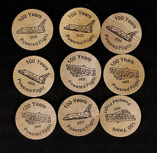 100 Years Powered Flight - Wright Brothers & Space Shuttle - Tokens (x50)