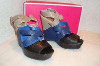 Juicy Couture Womens NWB Melanie Black Marte Lizard Print Sandals Shoes 7 M NEW
