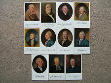 SET of 13 ORIGINAL AMERICAN HISTORIC PATRIOTIC POSTCARDS (FRANKLIN, JEFFERSON)