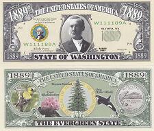 10 Washington WA State Quarter Novelty Money Bills Lot