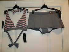 Tommy Hilfiger 2 pc Swimsuit Top Bottoms Skirt Womens Size Small
