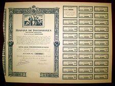Hispana de Inversiones one share 1953
