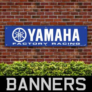 YAMAHA Motorcycles Factory Racing PVC Banner Garage Workshop Sign (BANPN00145)