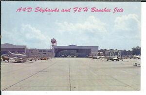 CH-173 Oceana Naval Air Station A4D Skyhawks  F2H Banshee Jets Chrome Postcard