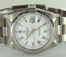 Rolex Ref. 115200 Oyster Perpetual DATE White Dial Stainless Steel Watch
