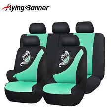 Car Seat Breathable Covers Set Butterfly Fresh Green Cars Seats Cushion For Lady