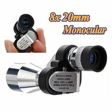Mini 8 x 20mm Portable Pocket Optical Monocular Hunting Camping Hiking Telescope