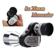 Mini 8 x 20mm Portable Pocket Optical Monocular Hunting Camping Hiking Telescope
