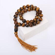Tiger eye Natural Stone Prayer Rosary Necklace Handmade Beads Islam Misbaha 10mm