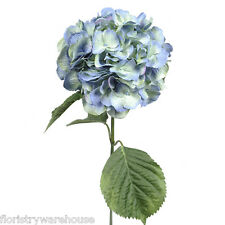 Artificial Silk Light Blue Giant Hydrangea 70cm Single Stem Wedding Flowers