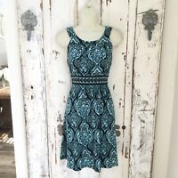 Apt. 9 PS Petite Small Woman's Black Blue White Sleeveless Casual Career Dress