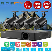 4CH 5IN1 1080N AHD HDMI DVR 1500TVL Outdoor Camera Home CCTV Security System Kit