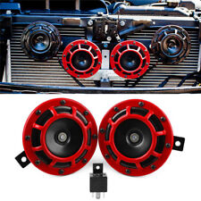 2pc Compact Electric Loud Blast 12V Grille Mount For Super Tone Hella Horn  BF