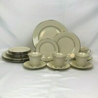 20 PIECE SET LENOX MAYWOOD DINNERWARE 4 FIVE PIECE PLACE SETTINGS FREE SHIPPING