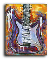 22x28 Original Painting Stratocaster Guitar Music Instrument Abstract Acrylic