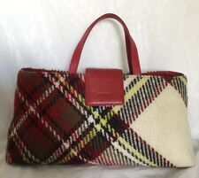 BURBERRY London Leather/Fabric Tote Bag / Handbag, Made In Italy
