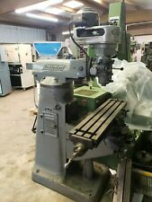 New listing Bridgeport Step Head Vertical Mill With Servo Power Feed 9 X 42 Table Solid!