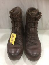 Used ALT-BERG Defender Army Issue Brown Leather Combat Boots 7M Male #529