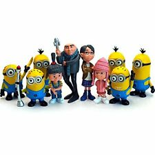 10x Despicable Me Minions Figures 2.5'' Gift Toys Set: Gru Margo Agnes & Edith