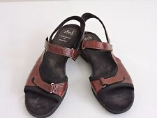 1803 European Sandals Burgundy Hand Crafted in Portugal Shoes 9.5 US Comfort 40