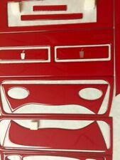 PORSCHE 996 1998 1999 00 2001 02 03 04 NEW RED STYLE INTERIOR SET DASH TRIM KIT