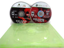 Xbox 360 Gears of War 1 and 2 Video Games very good condition disk NO COVER ART