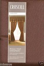 Brand New One Pair Croscill Avellino Bronze & Red Drapes Appx 82X84 L
