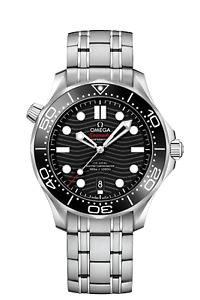 Omega Seamaster Diver 300 M, Black Dial, 42mm, Steel, UNWORN, 2021, Complete