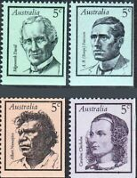 Australian MNH 1968 Stamps SET of 4x 5c Famous Australian's First Series Issues