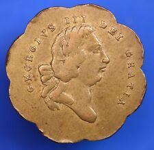 Brass George III guinea gaming token, 25mm *[19777]