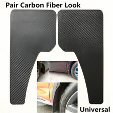 Pair Car Front Rear Wheel Carbon Fiber Surface Plastic Fender Mud Flaps Mudguard