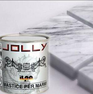 MASTICE  PER MARMO stucco paglierino Kg 1,250 con CATALIZZATORE JOLLY ILPA ADESI