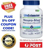 Life Extension Neuro-Mag Magnesium L-Threonate 90 Caps MAGTEIN - ENHANCE MEMORY