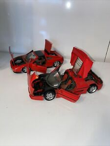 Maisto Ferrari 348 TS And Ferrari F50 1/18 scale Die Cast Lot