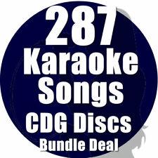 KARAOKE Disc Set Bundle CDG CD + G POP Chart Hits 287 Top CANZONI, 16 Dischi, SET B