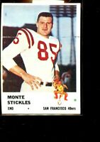 1961 FLEER #62 MONTE STICKLES 49ERS EX PLUS D025576
