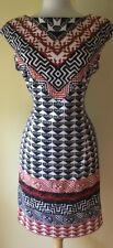 MAGGY LONDON Black Geometric Lined Dress  Size 12