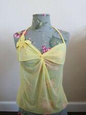 VINTAGE Victoria's Secret Soft Mesh Halter Camisole Sleepwear Top Size S