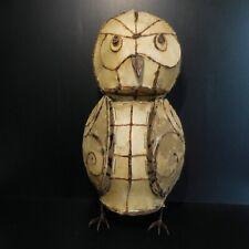 Sculpture métal chouette hibou fait main animal vintage art déco design XX N6520