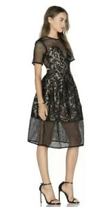 Elliatt Velocity Lace Black Dress Size M