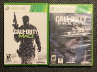 Lot (2) Xbox 360 Call Of Duty Modern Warfare 3 & Ghosts Tested Working