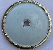 True Vintage Back Plate for Drawer Pull gold brass MCM shabby white enamel JB