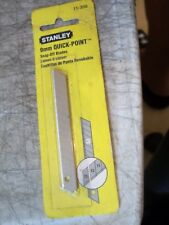 "STANLEY 11-300 9mm QUICK POINT SNAP OFF BLADES 13 CUTTING POINTS ~3-5/8""L 5 PACK"
