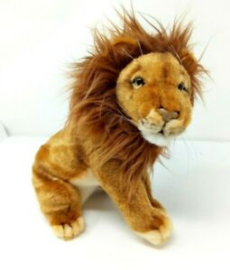 2010 Hansa Creation LION 10 inch Plush Stuffed Animal Toy Germany Lovey Big Cat