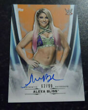 2020 TOPPS  WWE UNDISPUTED AUTOGRAPH ALEXA BLISS 62/99 ORANGE