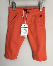 Weekend A La Mer Orange Cotton Baby Chinos Trousers Size 3-6 Months BNWT